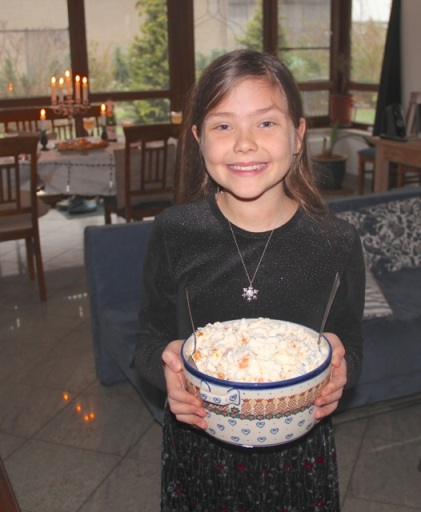 Libby with 'Grandma O's' Marshmallow Salad